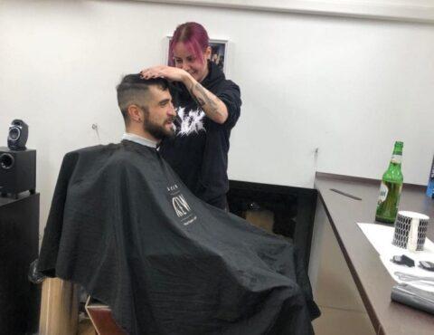 férfi hajvágás